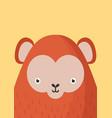 cute monkey snout flat vector image