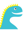dinosaur face body cute cartoon funny dino baby vector image