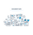 document safe document security data protection vector image