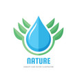ecology nature - logo concept vector image