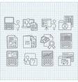 Education and web developing icons set vector image vector image