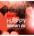 Elegant red billboard with hearts and place for vector image vector image