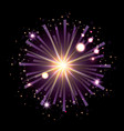 fireworks bursting in shape of star with radiant vector image vector image