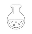 flask science chemistry icon image vector image