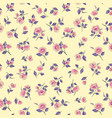 floral seamless pattern flowers with leaves vector image