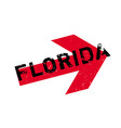 florida rubber stamp vector image