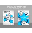 Flyer template with star vector image vector image