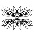 free style natural ornament design on white vector image