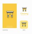 gate company logo app icon and splash page design vector image vector image