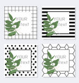 greeting template card set invite tree vector image vector image