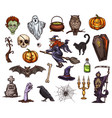 halloween holiday horror night sketch icon design vector image