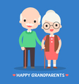 happy grandparents vector image
