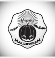 happy halloween logo icon design vector image vector image