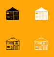 house black and white set icon vector image