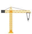 icon yellow construction crane vector image vector image