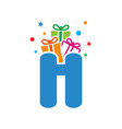 initial gift h vector image vector image