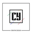 initial letter cy logo template design vector image vector image