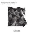 isolated icon egypt map polygonal geometric vector image vector image