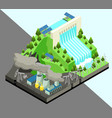 isometric alternative energy production concept vector image vector image