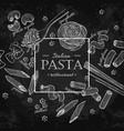 italian pasta restaurant vintage vector image vector image