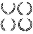 laurel wreaths icons different shapes isolated vector image