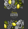 lemon tree design template hand drawn fruit on vector image vector image