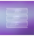 Login form ui element on a beautiful blurred