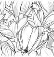 magnolia flowers seamless pattern texture elegant vector image vector image
