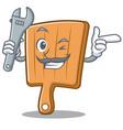 mechanic kitchen board character cartoon vector image vector image