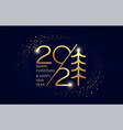 merry christmas and new year 2021 festive shining vector image vector image