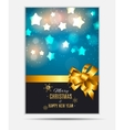 Merry Christmas and New Year Gold Glossy vector image vector image