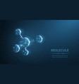 molecule abstract futuristic micro molecule vector image vector image