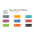 online business infographic 10 option line concept vector image