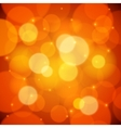 Orange bokeh effect abstract background vector image vector image