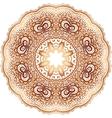Ornate vintage beige doodle circle pattern vector image vector image