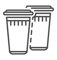 plastic glasses icon outline style vector image