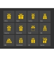 Present box icons vector image