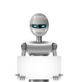 robot with banner vector image