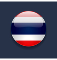 Round icon with flag of Thailand vector image vector image