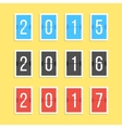scoreboard year numbers isolated on yellow vector image vector image