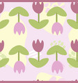 seamless abstract pattern with purple tulips vector image vector image