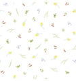 seamless floral pattern with small camomiles vector image