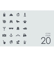 Set of cruise icons vector image