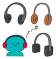 set of headphone vector image
