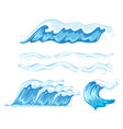 set of wave element vector image