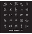 stock market editable line icons set on vector image vector image