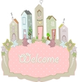 sweet home card design vector image vector image