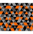 Tile background orange black and grey triangle vector image vector image