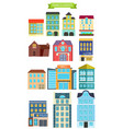 town elements vector image vector image