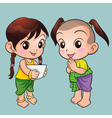 Traditional Thai boy and girl vector image vector image